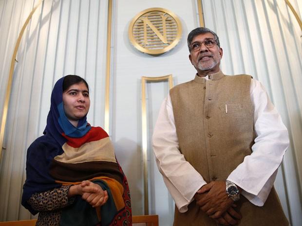 Malala Yousafzai e o indiano Kailash Satyarthi vão receber o Prêmio Nobel da Paz nesta quarta-feira (Foto: Suzanne Plunkett/Reuters)