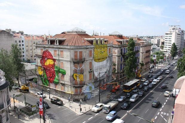 Três roteiros para quem quer ver um pouco da arte urbana que invade Lisboa. (Foto: CML | DMC | DPC 2011 )