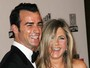 Jennifer Aniston rejeita acordo pr-nupcial de Justin Theroux, diz site