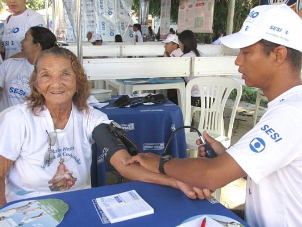Ação Global nacional em Barras, Piauí (Foto: André Santos/TV Clube)