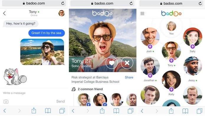 Layout lembra apps rivais como Tinder e Happn (Foto: Divulgação/Badoo)