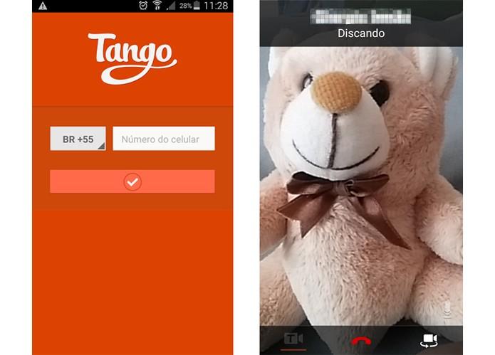 Tango oferece recursos para video-chamadas pelo app Android (Foto: Reprodução/Barbara Mannara)