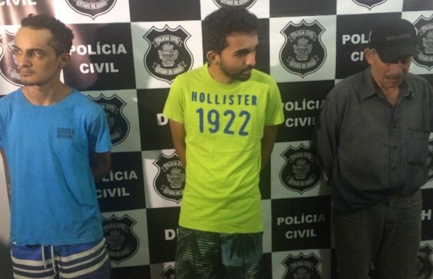 Suspeitos de envolvimento na morte de jovem por vingança, em Goiânia, Goiás (Foto: Vitor Santana/G1)