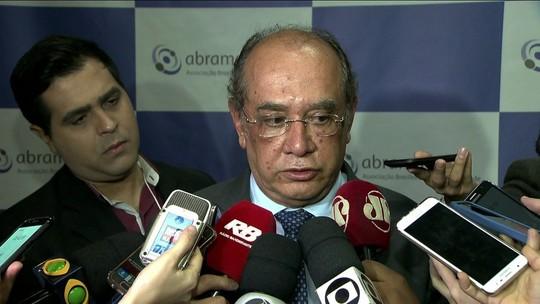 Gilmar Mendes diz que 'não cabe ao TSE resolver crise política'