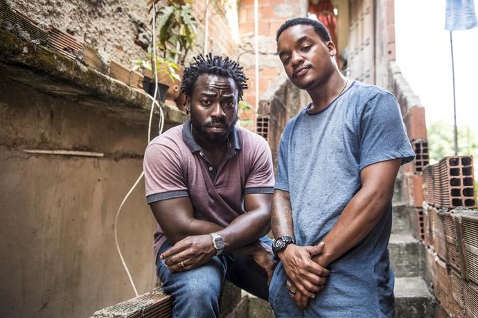 Douglas Silva e Darlan Cunha falam sobre seus personagens Acerola e Laranjinha em 'Cidade dos Homens' (Foto: TV Globo)