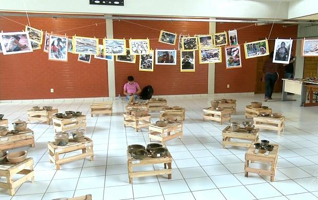 Várias atividades da cultura indígena foram desenvolvidas na Ufac no início desta semana (Foto: Jornal do Acre)