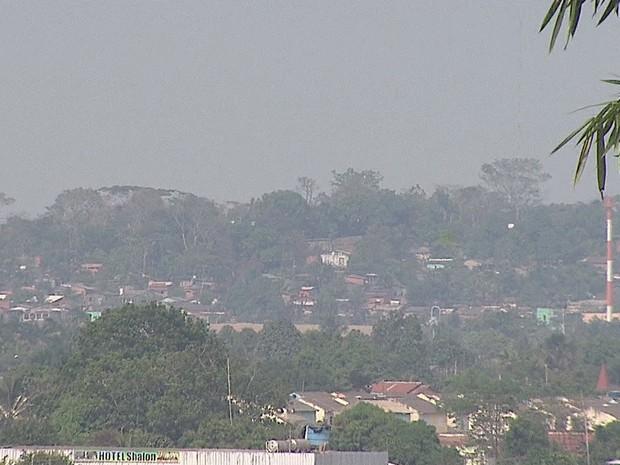 Nível de poluição em Rio Branco está três vezes acima do limite estipulado pela OMS (Foto: Reprodução/Rede Amazônica Acre)