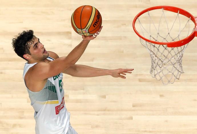 Raulzinho, Brasil X Argentina - Mundial de Basquete (Foto: Agência AP)