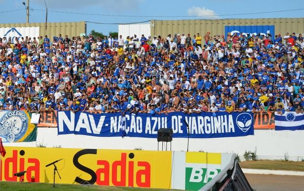Torcida do Cruzeiro lotou as arquibancadas. (Foto: Lucas Soares / Globoesporte.com)