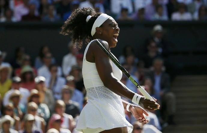 Serena Williams x Maria Sharapova na semifinal de Wimbledon (Foto: Reuters)
