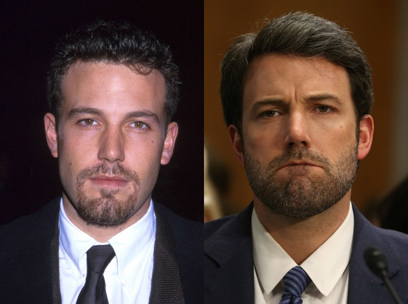 À esquerda, o ator e futuro diretor tinha apenas 26 anos. Agora, ele está com 42 anos. (Foto: Getty Images)