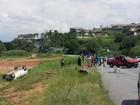 Dois ficam feridos em acidente na estrada entre Jacareí e São José