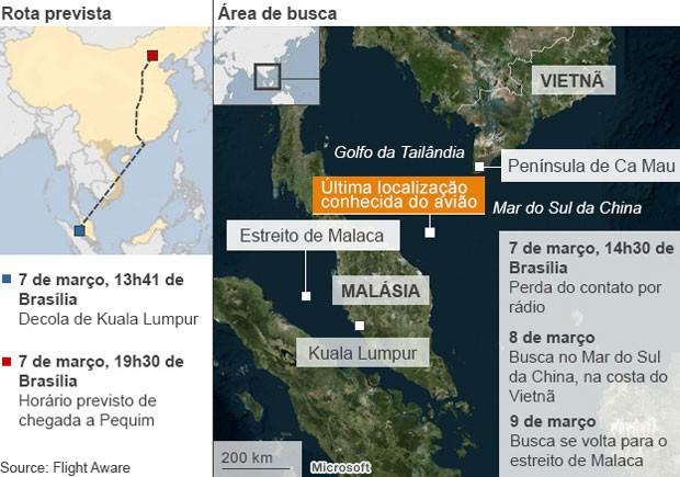 Infográfico avião malásia BBC (Foto: BBC)