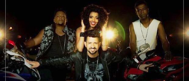 Dennis DJ (centro) com os MCs Nandinho e Nego Bam em imagem de divulgação do clipe de 'Malandramente' (Foto: Malandramente)