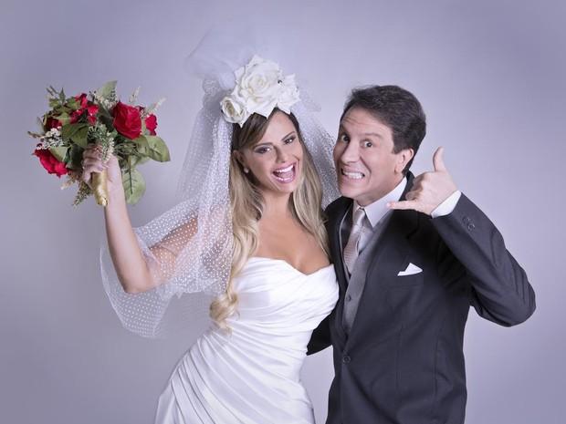 Viviane Araújo e Eduardo Martini estrelam peça sobre casamento, varginha (Foto: MM Produções Artísticas/Divulgação)