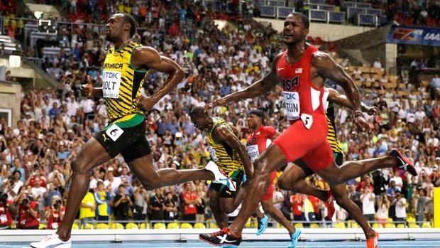 Bolt Mundial moscou (Foto: Agência AP)