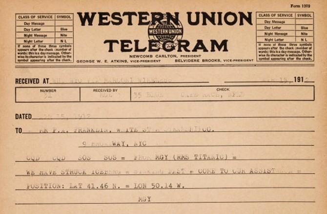 Telegrama misterioso sugere que dono sabia o que estava acontecendo com Titanic