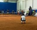 Nicolás Almagro e Tommy Haas dão aula de tênis e divertem brasileiros