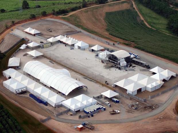 Novo Parque da Folia foi construído para receber os shows do Bloco Vermes e Cia, em Muzambinho (Foto: Divulgação Brasileira Comunicação)