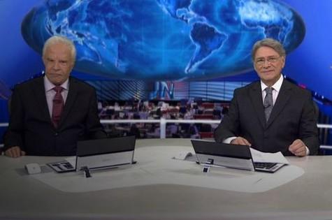 Cid e Chapelin na bancada do JN (Foto: Reprodução)