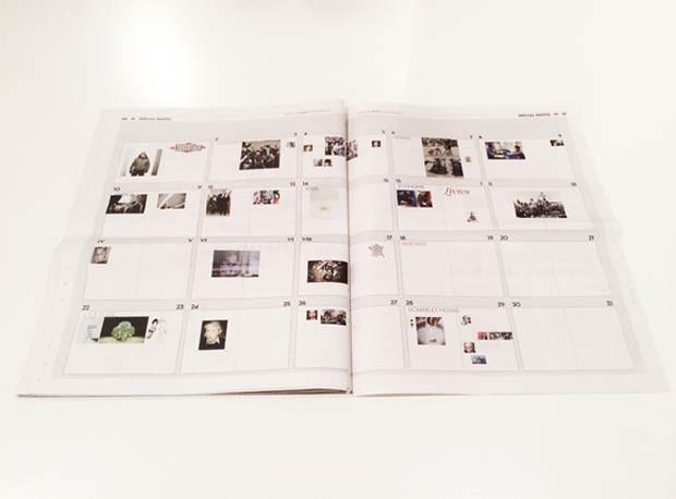 Ao fim da edição, índice mostra em miniatura as imagens referentes aos quadros em branco no 'Libération' (Foto: Reprodução/British Journal of Photography)
