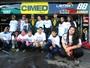 Crianças visitam box de Fraga e Gomes, líderes da Stock, em Tarumã