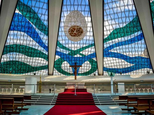 Foto do interior da Catedral usada pelo aplicativo Beekme (Foto: Bruno Lemes Resende/Memora Processos Inovadores )