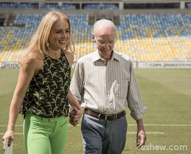 Angélica e Zagallo (Foto: Inácio Moraes/TV Globo)