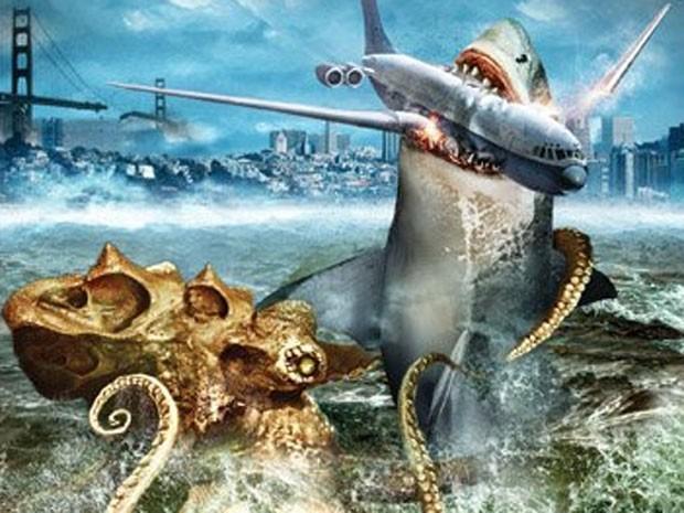 Cena de 'Mega shark vs. giant octopus' (Foto: Divulgação)