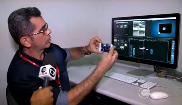 Editor de imagens Niltomar Andrade destaca que os vídeos devem ser gravados com aparelho na posição horizontal (Foto: reprodução/TV Clube)