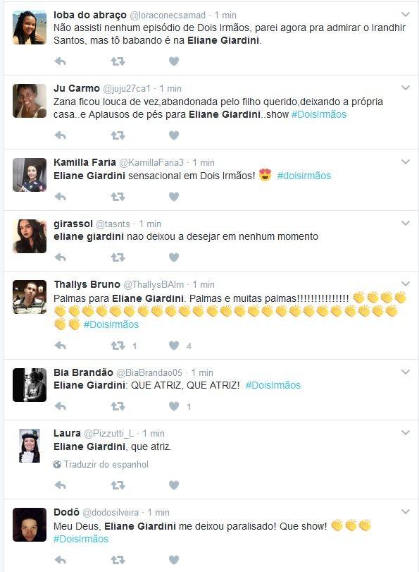 Atuação de Eliane Giardini emociona web (Foto: Reprodução/Twitter)