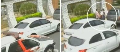 Vídeo: policiais são presos em SP extorquindo mulher na rua (reprodução)