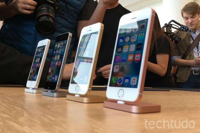 iPhone SE tem tela de 4 polegadas e baixo custo (Foto: Thássius Veloso/TechTudo) (Foto: iPhone SE tem tela de 4 polegadas e baixo custo (Foto: Thássius Veloso/TechTudo))