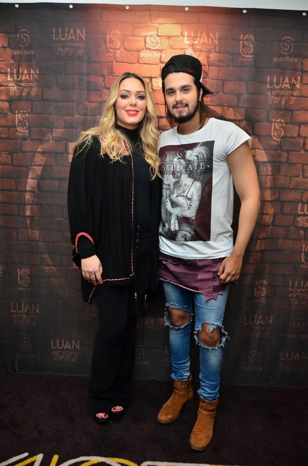 Tania Mara e Luan Santana (Foto: Webert Belicio / Ag News)