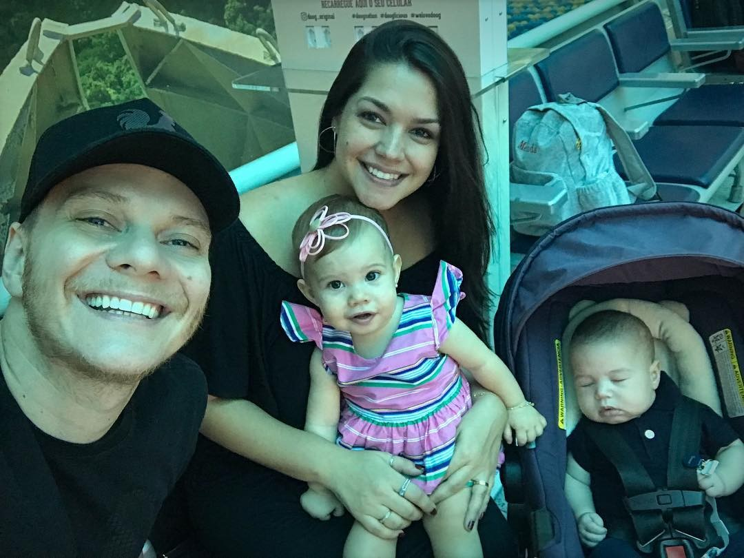 Michel, Thais, Melinda e Teodoro (Foto: Instagram/Reprodução)