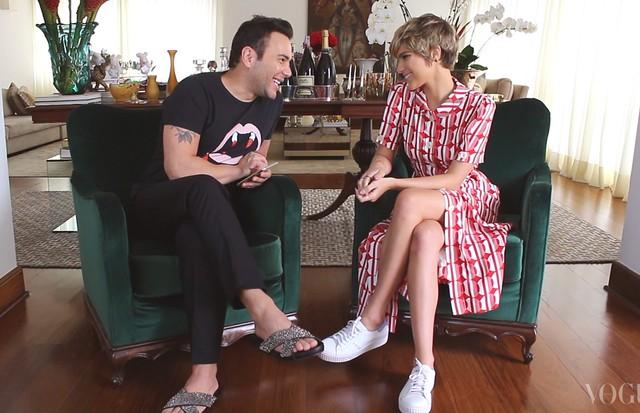 Isabella Santoni é convidada do Mister V (Foto: reprodução)