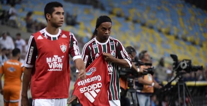 Fluminense x Grêmio, Maracanã, Ronaldinho (Foto: André Durão)