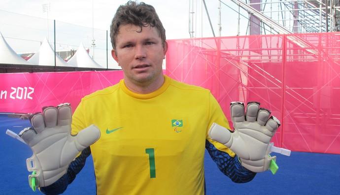 Fábio, goleiro do futebol de 5 (Foto: Cahe Mota / Globoesporte.com)