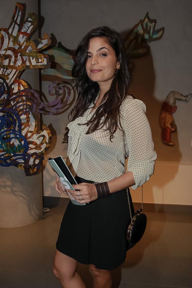 Emanuelle Araújo na estreia da peça Os realistas (Foto: Raphael Castello/Agnews)