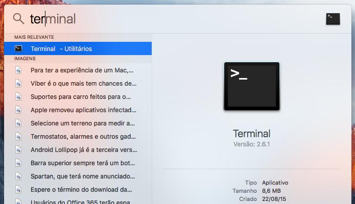 Abra o Terminal (Foto: Reprodução/Paulo Alves)