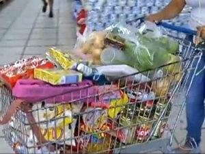 Preço da cesta básica caiu em Campo Grande no mês de maio, conforme o Dieese (Foto: Reprodução/TV Morena)
