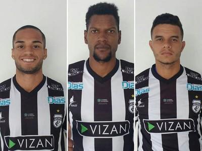 Thiago Costa, Léo Kanu, Geral Filho, Treze (Foto: Divulgação / Treze)