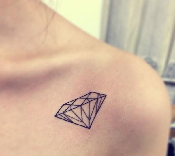 Pequenas tatuagens grandes significados saiba o que querem dizer diamante foto reproduo thecheapjerseys Images