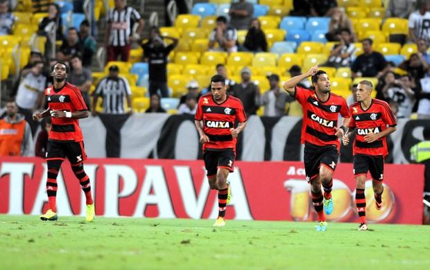 Comemoração do Flamengo contra o Botafogo (Foto: Andre Durão)