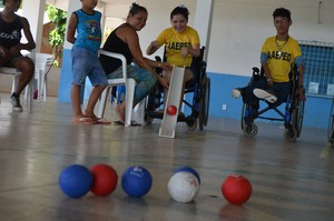 Bocha adaptada ganha cada vez mais força entre para-atletas amapaenses  (Foto: Rafael Moreira/GE-AP)