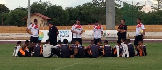 Vitória; treino; Vagner Mancini; Roraima (Foto: Nailson Wapichana)