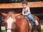 Dani Suzuki posta fotos do filho aproveitando dia em fazendinha