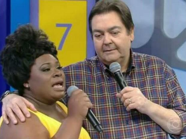 Michele Mara e Faustão (Foto: Reprodução/TV Globo)
