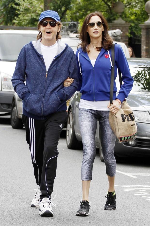 Paul Mccartney e a mulher, Nancy Shevell (Foto: Agência/ Grosby Group)