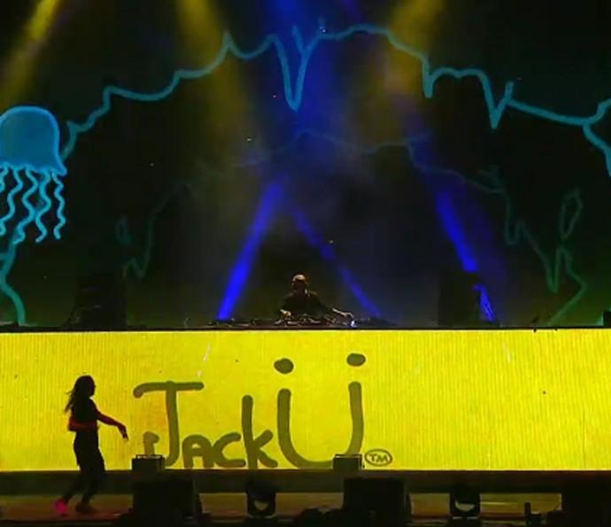 Jack Ü incendeia o Lollapalooza (Foto: Gshow)